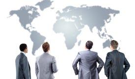 4 бизнесмен от задней части Стоковые Изображения