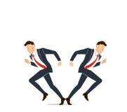 Бизнесмен должен принять решение решениее которое путь пойти для его иллюстрации вектора успеха Стоковые Изображения RF