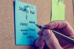 Бизнесмен писать бизнес-план стоковое фото