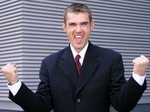 бизнесмен победоносный Стоковая Фотография