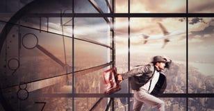 бизнесмен поздно стоковая фотография rf
