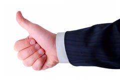 бизнесмен показывает большие пальцы руки вверх Стоковое Изображение RF
