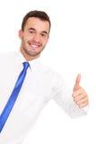 Бизнесмен показывая одобренный знак Стоковые Изображения RF