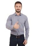 Бизнесмен показывая одобренный знак Стоковая Фотография
