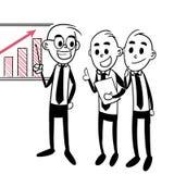 Бизнесмен показывая растущий график Стоковое Изображение RF