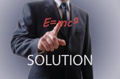 Бизнесмен показывая решение Стоковое Изображение RF