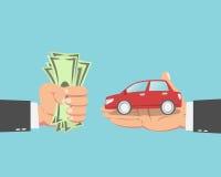 Бизнесмен покупая автомобиль Стоковое Изображение
