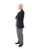 Бизнесмен полного тела азиатский старший стоковые фотографии rf