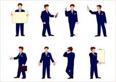 бизнесмен представляет комплект s иллюстрация штока