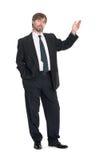 бизнесмен представляя что-то стоковое изображение