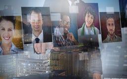 Бизнесмен представляя изображения профиля Стоковые Фотографии RF