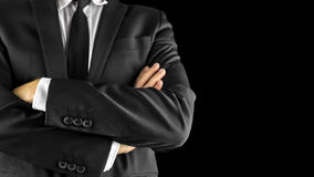 Бизнесмен при пересеченные оружия Стоковое фото RF