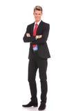 Бизнесмен при пересеченные рукоятки Стоковые Фото