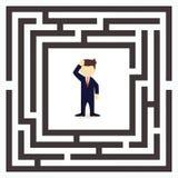 Бизнесмен пробуя разрешить проблему иллюстрация штока