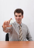 бизнесмен производя идеи Стоковые Фотографии RF