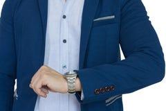Бизнесмен пунктуальный, концепция времени Стоковые Фотографии RF