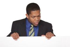 Бизнесмен - пустой знак Стоковое Изображение RF