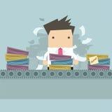 Бизнесмен работая как работа фабрики Стоковое Изображение