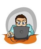 Бизнесмен работая на компьютере Стоковые Фото