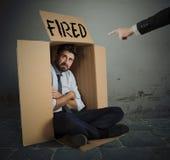 бизнесмен сгорел стоковая фотография rf
