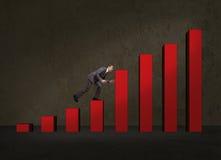 Бизнесмен скача до более высокого кубика стоковые изображения rf