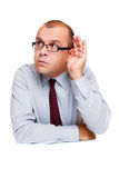 бизнесмен слушая Стоковые Фотографии RF