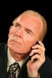 бизнесмен слушая Стоковые Фото