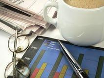 бизнесмен составляя схему профитам Стоковая Фотография RF
