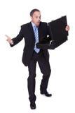 Бизнесмен сотрястенный проигрышными деньгами Стоковые Изображения RF
