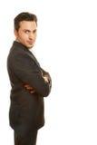 Бизнесмен стоя косой Стоковое Изображение RF
