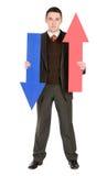 бизнесмен стрелок Стоковые Фотографии RF