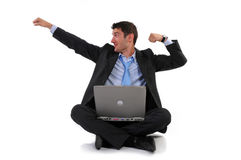 бизнесмен счастливый Стоковое фото RF