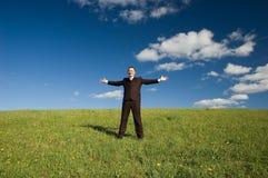 бизнесмен счастливый стоковая фотография rf