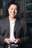 бизнесмен счастливый Стоковое Фото