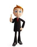 Бизнесмен с большими пальцами руки вверх представляет Стоковая Фотография RF