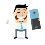 Бизнесмен с большой батареей бесплатная иллюстрация
