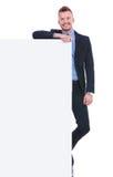 Бизнесмен с большой панелью Стоковая Фотография