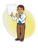 Бизнесмен с бумагой Стоковые Фото