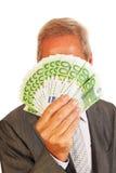 Бизнесмен с евро Стоковые Фотографии RF