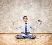 Бизнесмен с деньгами стоковая фотография rf