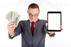 Бизнесмен с деньгами Стоковое Изображение