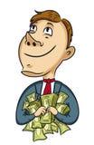 Бизнесмен с деньгами иллюстрация вектора