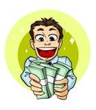 Бизнесмен с деньгами Стоковые Изображения RF