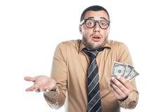 Бизнесмен с деньгами стоковые фотографии rf