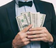 Бизнесмен с деньгами Стоковое фото RF
