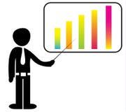 Бизнесмен с диаграммой Стоковая Фотография RF