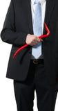 Бизнесмен с ломом Стоковые Изображения RF