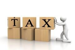 Бизнесмен с налогом бесплатная иллюстрация
