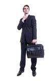 Бизнесмен с портфелем Стоковые Изображения