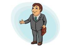 Бизнесмен с портфелем Стоковое Фото